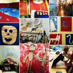 zeefdrukken en kunsteducatie door deenendingen in het basisonderwijs