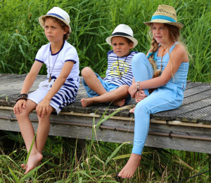 kids collection blue tones and navy stripes made in the netherlands