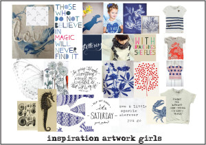 inspiratie met artworks voor girls collectie
