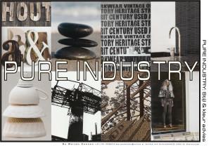 pure industry sfeer voor interieur concept