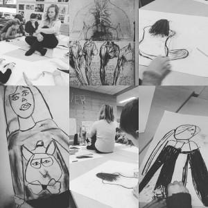 groep 7 en 8 kunsteducatie en tekenen naar waarneming