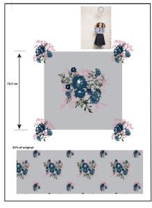 fris en sprankelend bloem dessin voor dansjurkje
