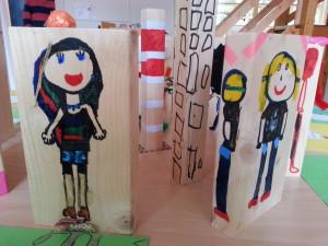 werkstukken gemaakt door leerlingen tijdens de creatieve week