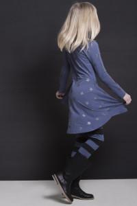 sterren jurk en streep legging voor stijlvolle meiden