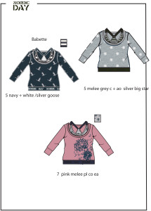 verschillende prints en patronen op de meiden shirts