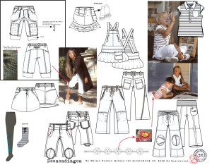 mode ontwerpen van broeken en tops uit het jottum collectie boek.