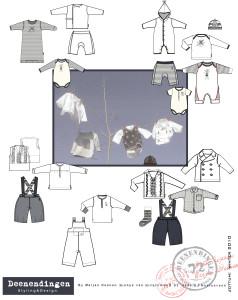 basic outfits voor Jottum baby jas broek shirts en rompers